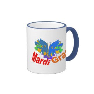 Mardi Gras Split Mask Mug