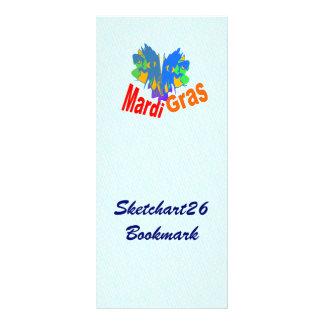 Mardi Gras Split Mask Rack Card Design