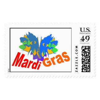 Mardi Gras Split Mask Stamps