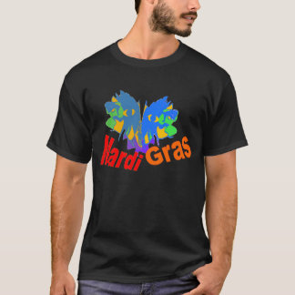 Mardi Gras Split Mask T-Shirt