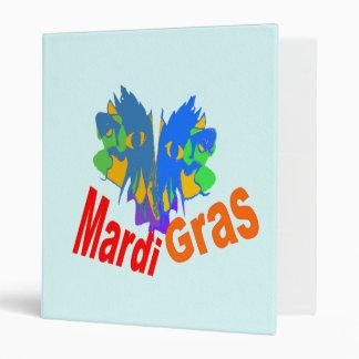 Mardi Gras Split Mask Vinyl Binders