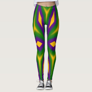 Mardi Gras Star 3598 Leggings
