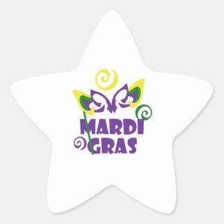 MARDI GRAS STAR STICKER
