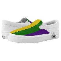 Mardi Gras Striped Pattern Slip-On Sneakers