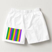 Mardi Gras Stripes Pattern Green Yellow Purple Boxers