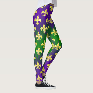 Mardi Gras Style Colorful Leggings