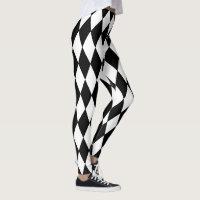 Mardi Gras Style Harlequin Pattern Leggings