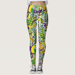 "Mardi Gras Style Leggings<br><div class=""desc"">Colorful leggings</div>"