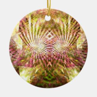 Mardi Gras Sunshine Double-Sided Ceramic Round Christmas Ornament