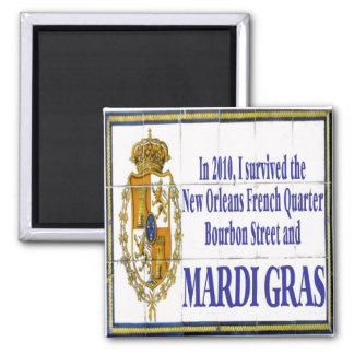 MArdi Gras Survivor Tile Mural Fridge Magnets