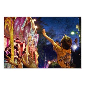 Mardi Gras Textures Photo Print