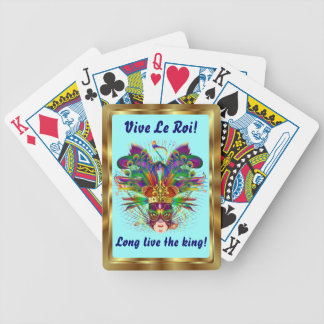 Mardi Gras The King View Notes Please Bicycle Playing Cards