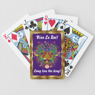Mardi Gras The King View Notes Please Bicycle Card Decks