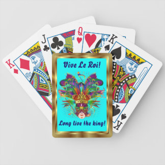 Mardi Gras The King View Notes Please Poker Cards
