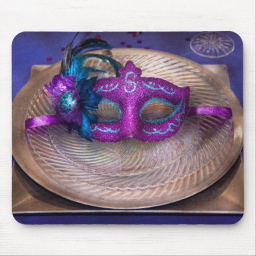 Mardi Gras Theme - Surprise guest Mouse Pad