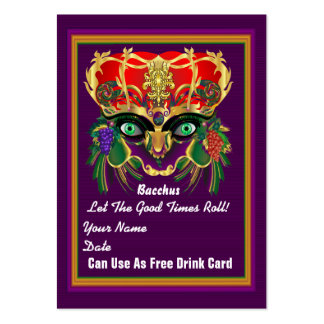 Mardi Gras Throw Card See notes Large Business Cards (Pack Of 100)
