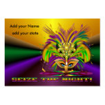 Mardi Gras Throws Large Business Cards (Pack Of 100)