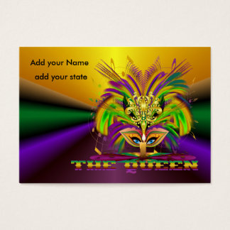 Mardi Gras Throws Business Card