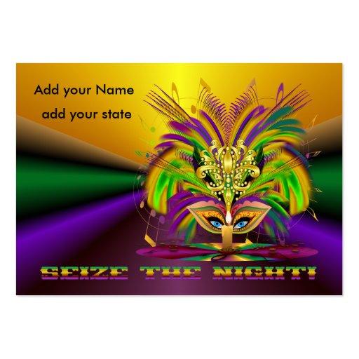 Mardi Gras Throws Business Card Templates