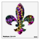 "Mardi Gras ""Throws"" FLEUR DE LIS wall decal"