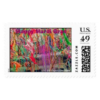 Mardi Gras Tree Postage Stamps