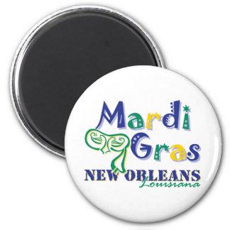 Mardi Gras Tri Mask 2 Inch Round Magnet