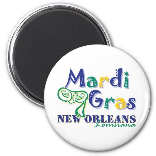 Mardi Gras Tri Mask Magnet
