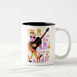 Mardi Gras Two-Tone Coffee Mug