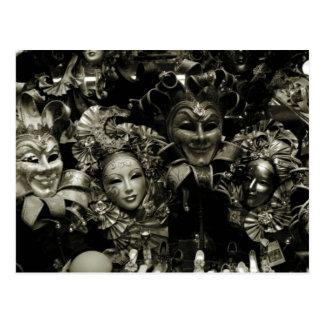 Mardi Gras Venice Carnival Mask Postcard