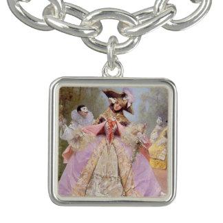Mardi Gras Victorian Masquerade Ball Charm Bracelet