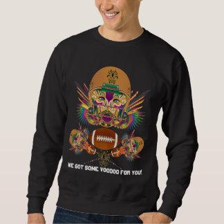 Mardi Gras Voodoo Quarterback Please view notes Sweatshirt