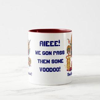 Mardi Gras Voodoo Quarterback Please view notes Two-Tone Coffee Mug