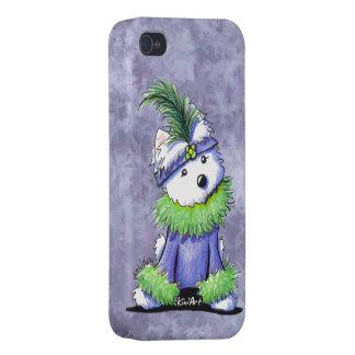 Mardi Gras Westie Cover For iPhone 4