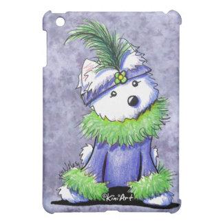 Mardi Gras Westie iPad Mini Cover