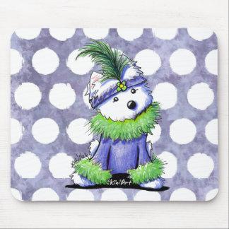 Mardi Gras Westie Mouse Pad