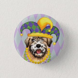 Mardi Gras Wheaten Pinback Button