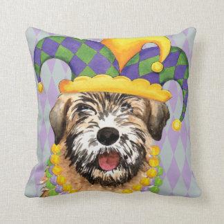 Mardi Gras Wheaten Throw Pillow