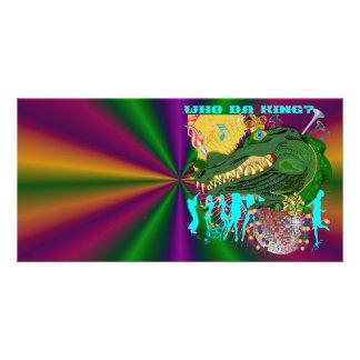 Mardi Gras Who Da King? Card
