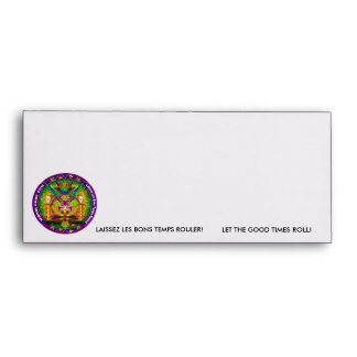 Mardi Gras Witch Doctor-Skull V-1 Envelope