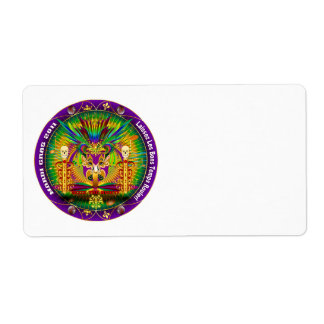 Mardi Gras Witch Doctor-Skull V-1 Personalized Shipping Labels