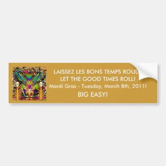 Mardi Gras Witch Doctor-Skull V-3-T Bumper Sticker