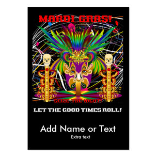 Mardi Gras Witch Doctor-Skull V-3-T Large Business Cards (Pack Of 100)