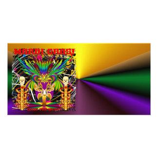 Mardi Gras Witch Doctor-Skull V-3-T Card