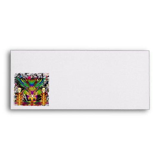 Mardi Gras Witch Doctor-Skull V-3-T Envelope