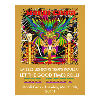 Mardi Gras Witch Doctor-Skull V-3-T Flyer