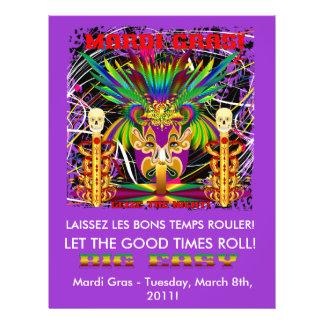 Mardi Gras Witch Doctor-Skull V-3-T Custom Flyer