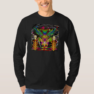 Mardi Gras Witch Doctor-Skull V-3-T T-Shirt