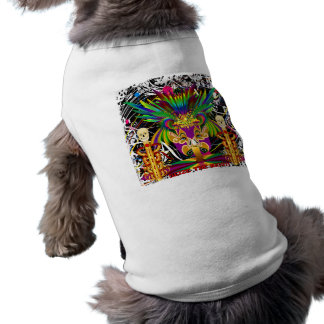 Mardi Gras Witch Doctor-Skull V-3-T Tee