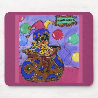 Mardi Gras Yorkie Poo Mouse Pad