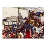 Mardi Gras Zulu Float Post Card